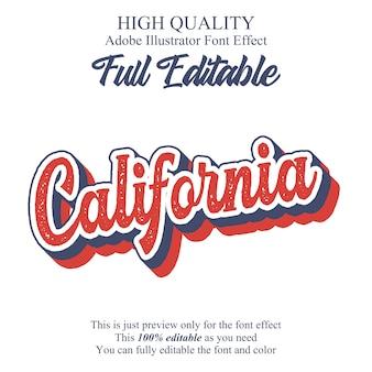 Retro script editable typography font effect