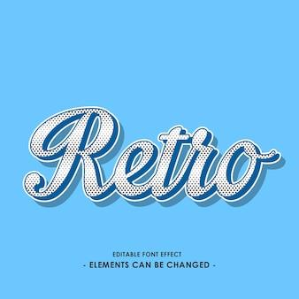 Retro script font effect