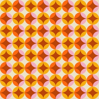 70年代スタイルのレトロなシームレスパターン