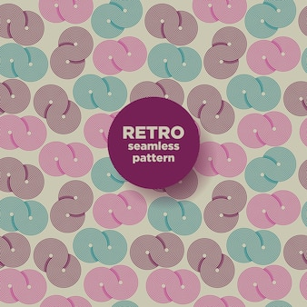 Retro seamless pattern of shapes