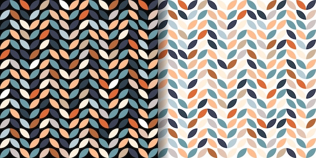 Retro seamless patterns set