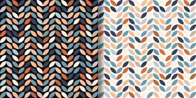 레트로 완벽 한 패턴 세트