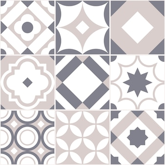 Retro seamless tile pattern.