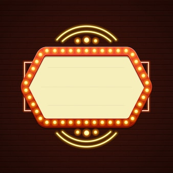 레트로 쇼 타임 기호 판매 영화 간판 전구 프레임 및 네온 램프