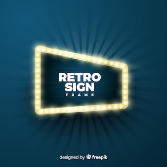 Retro sign frame