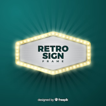 Retro sign frame