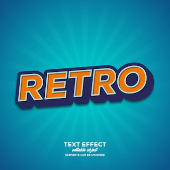 Retro simple text effect with modern style