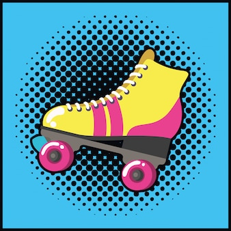 Retro skate pop art style