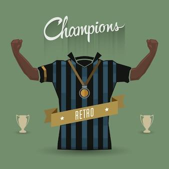 Retro soccer sign champions