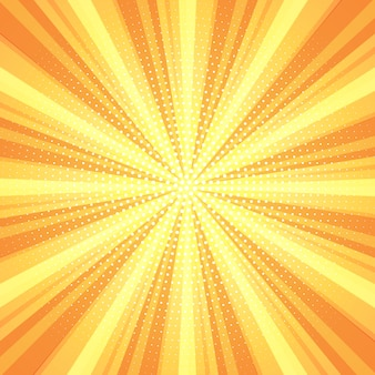 Retro starburst background