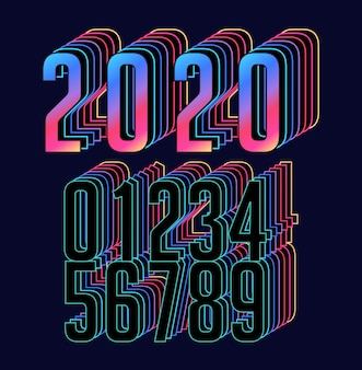 Retro stereo numbers