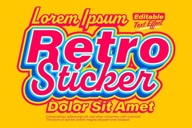 レトロなステッカー古いポスタースタイルのテキスト効果