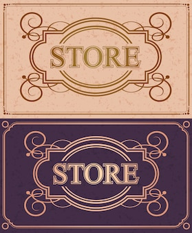 Retro store flourish calligraphy monogram