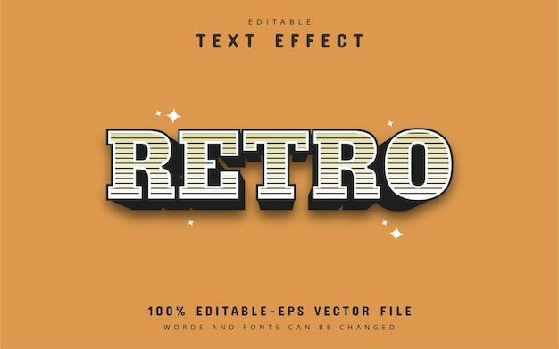 Retro striped text style effect