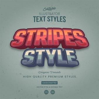 Retro stripes illustrator text style