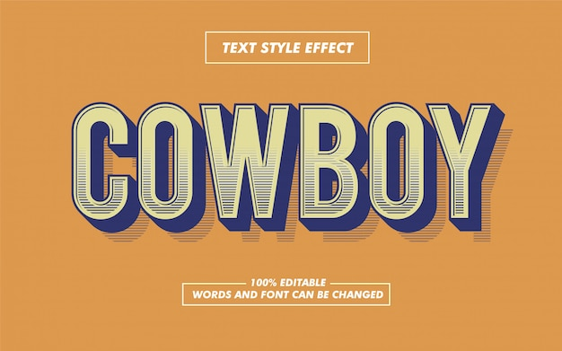 Retro stripped bold text style effect