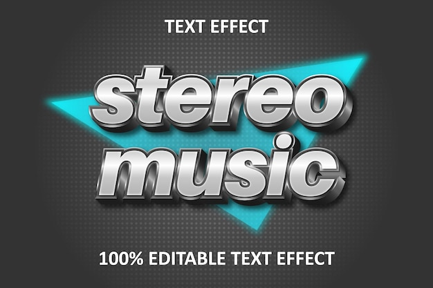 Retro strong editable text effect silver transform