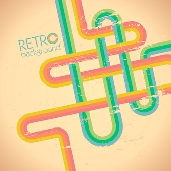 Retro style abstract background template