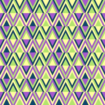 Retro style abstract geometric colored seamless pattern.