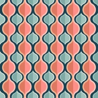 レトロなスタイルの抽象的な幾何学的または菱形パターンの背景。
