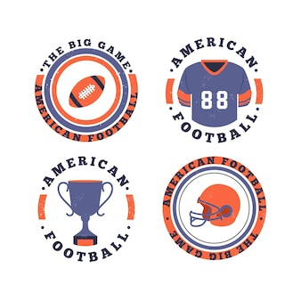 Distintivi di football americano stile retrò