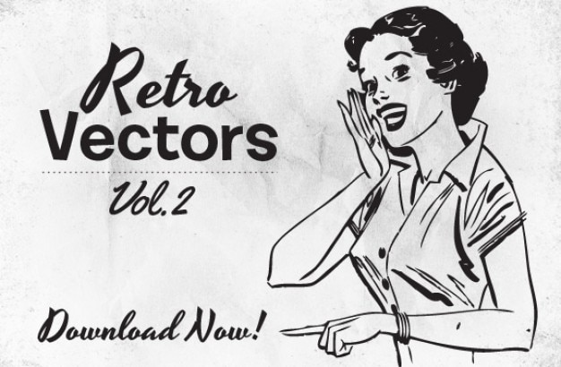 Retro style artwork illustrations