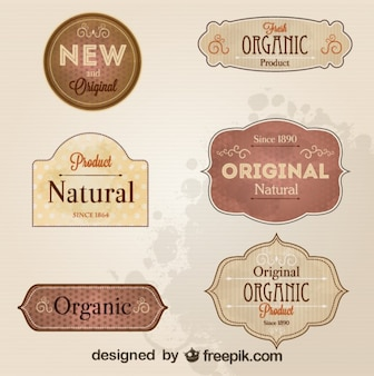 Retro style badges and labels