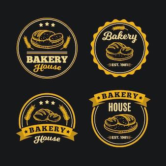 Retro style for bakery logo