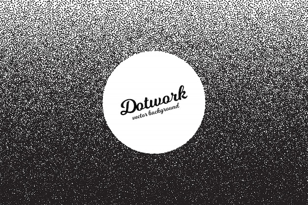 Retro style dotwork vector background