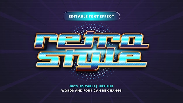 Retro style editable text effect in modern 3d style