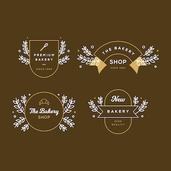 パン屋さんのロゴのレトロなスタイル
