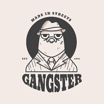 Ретро стиль для логотипа гангстера