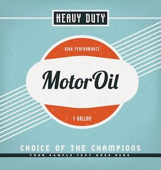 Retro style label design