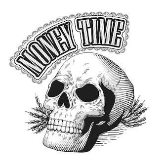 Retro style mafia logo