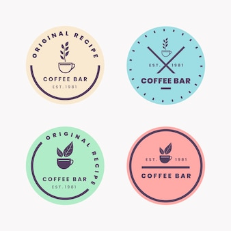 Retro style for minimal logo collection