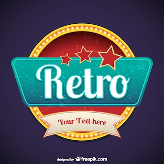 Retro style signage