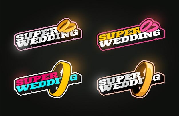 Retro style sport logo set