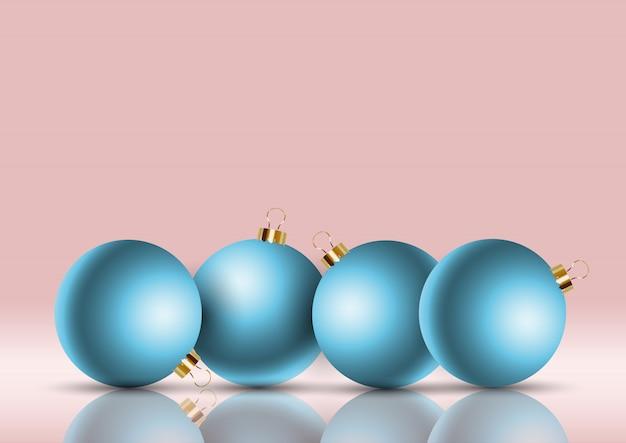 レトロ、クリスマス、bauble、背景