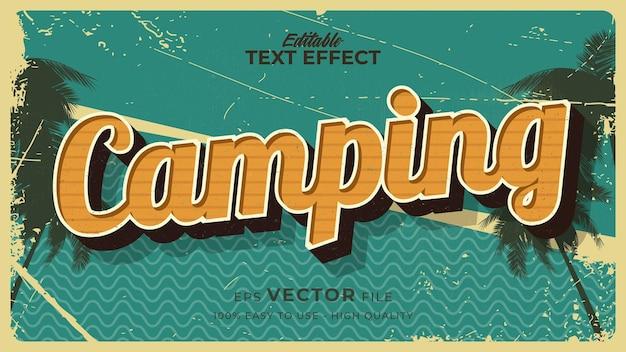 グランジスタイルのテーマでレトロな夏のキャンプのテキスト