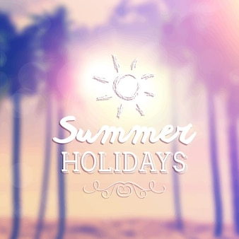 Retro summer holidays background