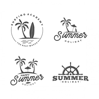 Retro summer logo