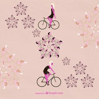 Retro summer ride floral vector