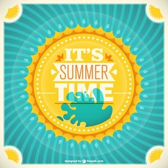 Retro summer sunlight vector