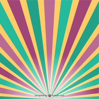Retro sun rays vector
