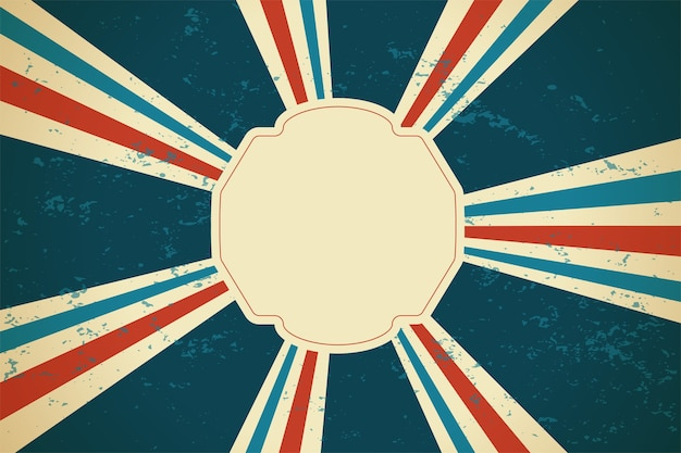Retro sunburst rays background