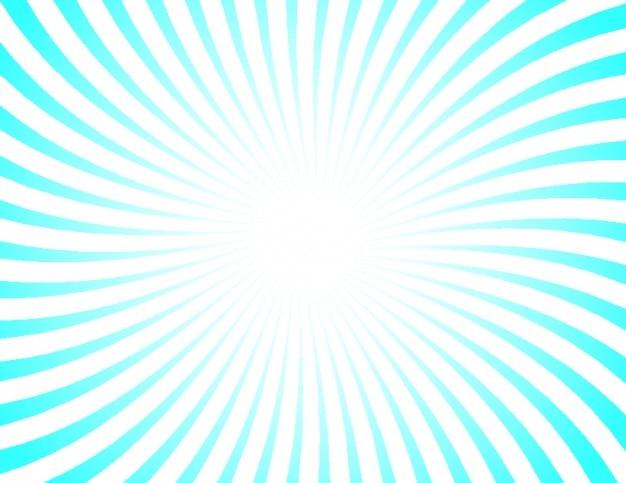 Retro sunburst with blue and white stripes