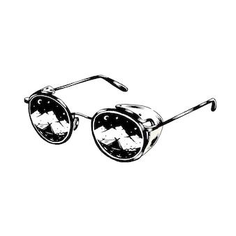 Retro sunglasses Free Vector