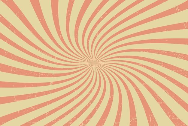 레트로 swirly 햇살 배경