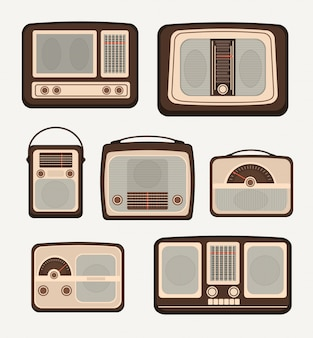 Retro technology radio