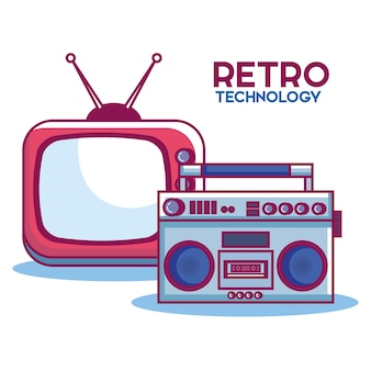 Retro technology set gadgets